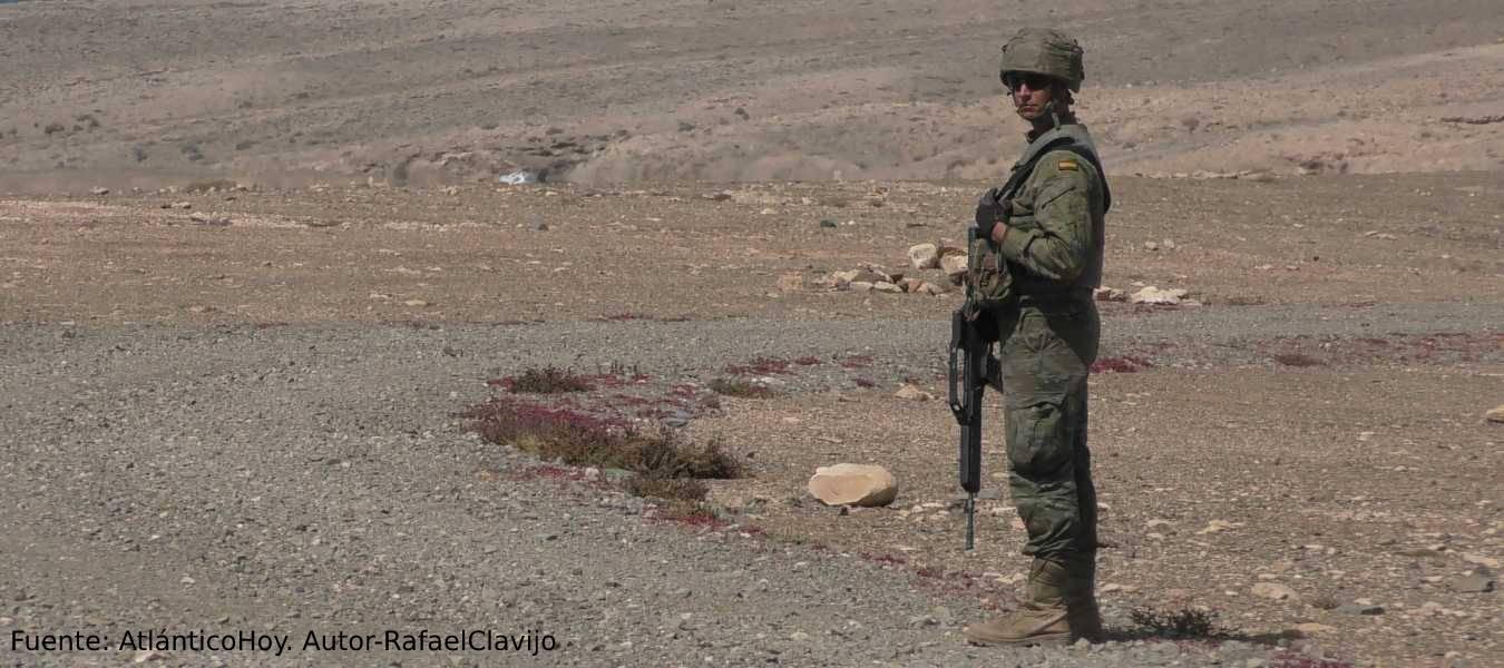 La militarización en Canarias