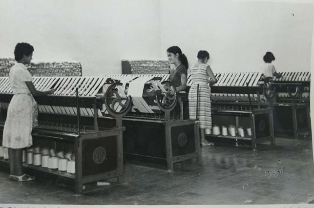 mujeres industria algodonera Canarias